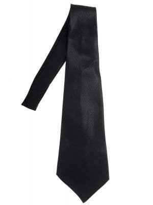 Black Satin Men's Wide Costume Neck Tie Costume Accessory