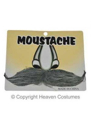 Novelty Gentlemen's Grey Stick On Moustache