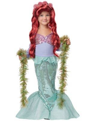 Girl's Little Mermaid Ariel Costume Front View