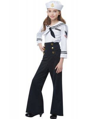 Black Navy Sailor Uniform Girls Costume