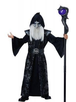 Dark Wizard Boys Halloween Fancy Dress Costume