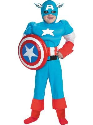 Captain America Muscle Chest Boys Costume