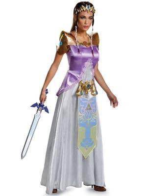 Teen Girl's Deluxe Princess Zelda Game Character Costume - Front Image