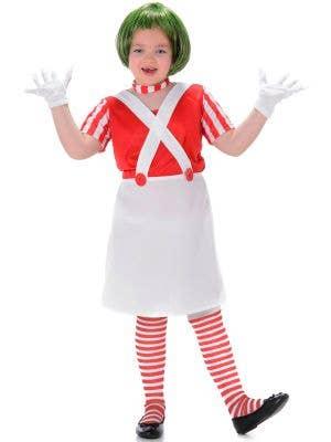 Oompa Loompa Girls Fancy Dress Costume Main Image