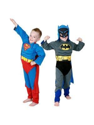 Reversible Superman to Batman Boys Superhero Costume