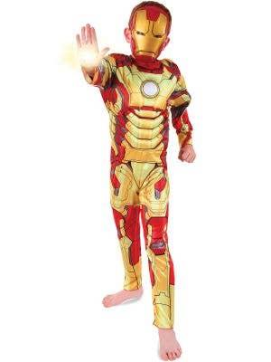 Boy's Iron Man Marvel Superhero Costume Front View
