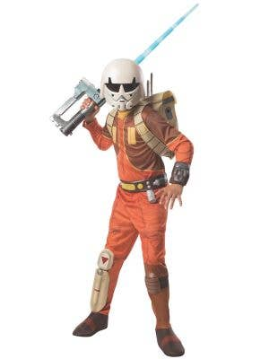 Boys Deluxe Star Wars Ezra Fancy Dress Costume Main Image