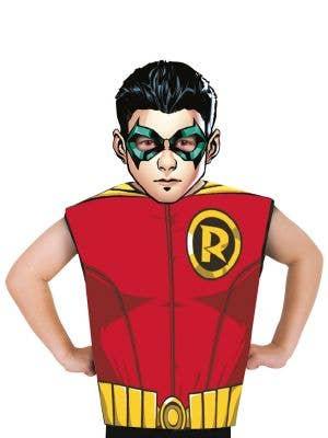 Boys DC Comics Robin Shirt and Mask Costume Set