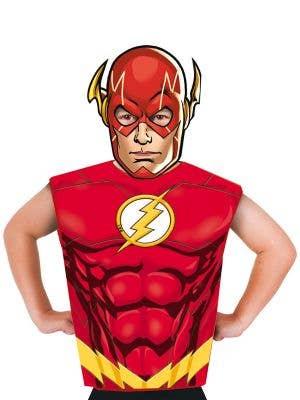Boys The Flash DC Comics Shirt and Mask Costume Set