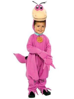 Kids Purple Flintstones Dino Book Week Costume Main Image