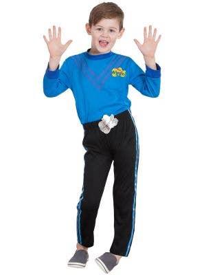 Kids Blue Anthony Wiggle Costume - Main Image