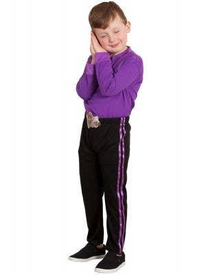 Kids Purple Lachy Wiggle Costume - Main Image