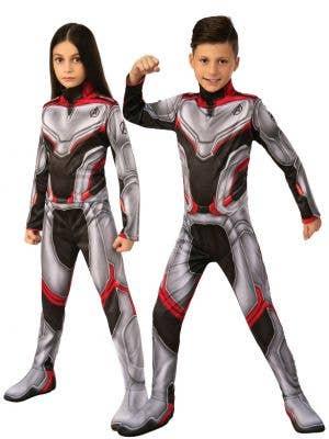Unisex Avengers Endgame Team Suit Kids Costume Main Image