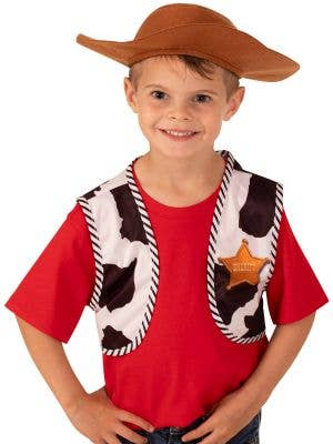 Toy Story 4 Woody Boy's Costume Vest and Hat Set