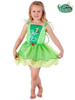 Tinkerbell Green Fairy Girls Costume - Main Image