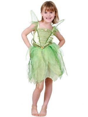 Girls Green Tinker Bell Dress Up Costume