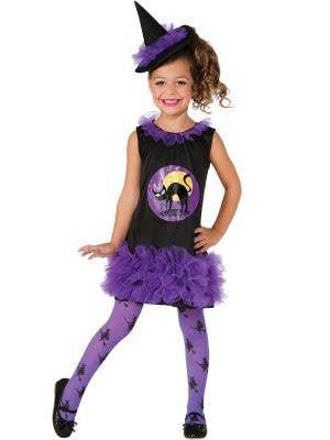 Purple Tutu Witch Toddler Girls Halloween Costume