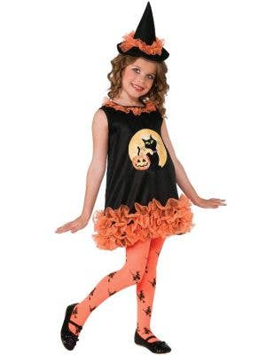 Toddler Tutu Witch Black and Orange Halloween Fancy Dress Costume