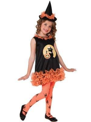 Orange Tutu Witch Toddler Girls Halloween Costume