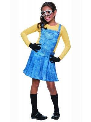 Girls Minion Movie Yellow Minion Fancy Dress Costume Main Image