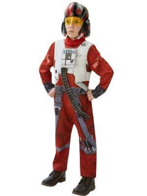Boys Star Wars Poe Dameron Fighter Pilot fancy dress costume