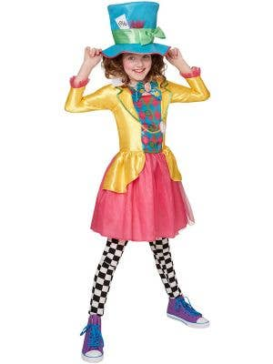 Mad Hatter Teen Girls Fancy Dress Costume
