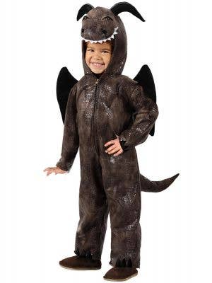 Brown Medieval Dragon Costume Onesie for Toddlers