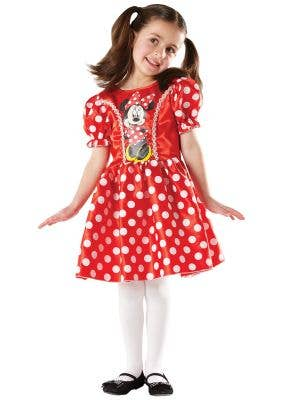 Red and White Minnie Mouse Costume for Girls