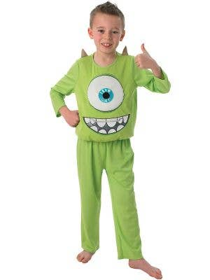 Kid's Green Monster's University Mike Movie Costume Front