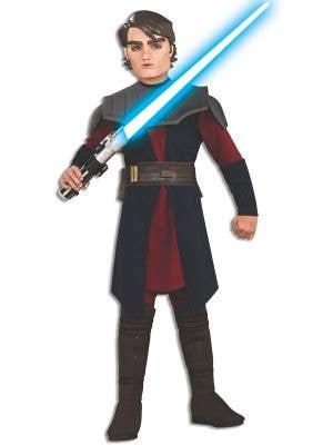 Anakin Skywalker Boy's Star Wars Jedi Movie Costume Full View