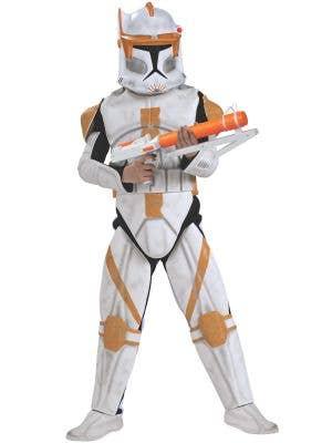 Boy's Commander Cody Star Wars Clone Trooper Costume Front