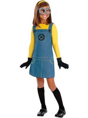 Girl's Despicable Me Minion Costume Front View
