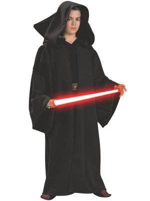 Boy's Star Wars Sith Robe Dark Side Costume Front View