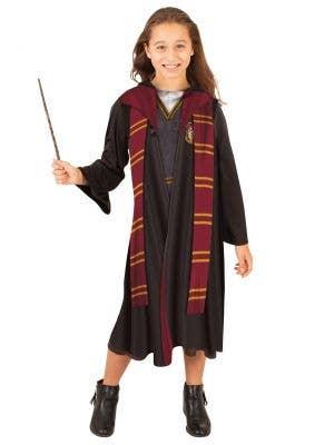 Girls Hermione Griffindor Robe - Front Image