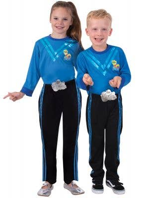 Kids Blue Wiggle Dress Up Costume - Main Image