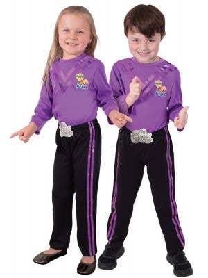 Kids Purple Wiggle Dress Up Costume - Main Image