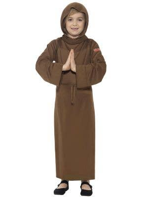 English Monk Boys Book Week Fancy Dress Costume Front View