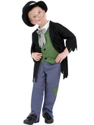 Boy's Victorian Peasant Book Week Costume Front View