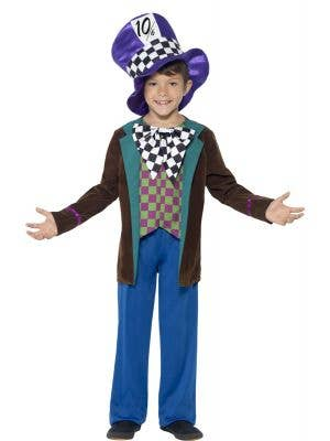 Boys Mad Hatter Fairytale Costume Front View