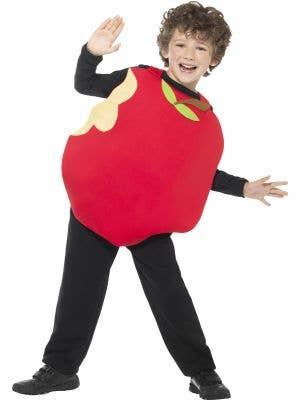 Kids Red Apple Book Week Fruit Costume Front Image