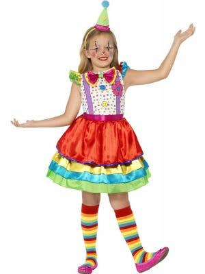 Girl's Circus Clown Costume Front View