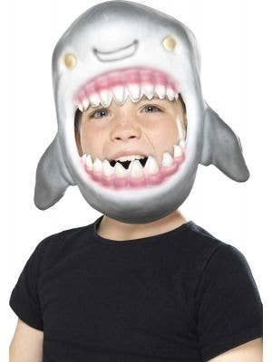 Great White Shark Kids Book Week Costume Mask Front View
