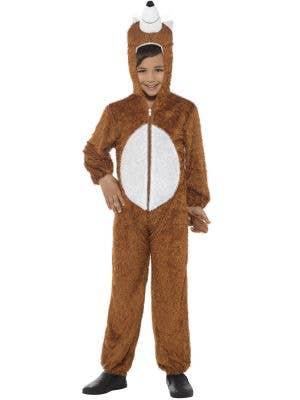 Kids Brown Fox Onesie Fancy Dress Costume Main View