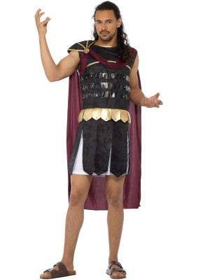 Men's Roman Gladiator Fancy Dress Costume Main Image