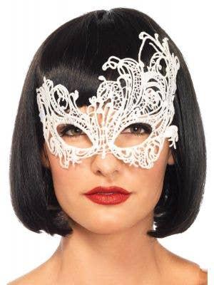 White Lace Women's Sexy Masquerade Mask