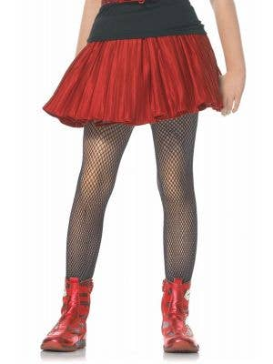 Black Fishnet Girls Halloween Costume Tights