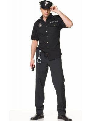 Deluxe Cop Men's Fancy Dress Costume Main