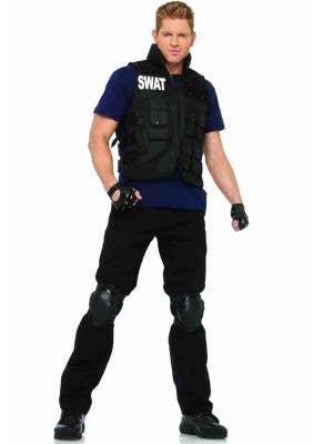 Men's SWAT Brigade Fancy Dress Costume Front