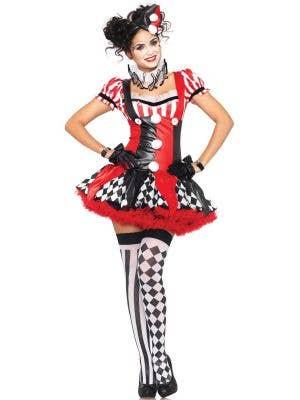 Sexy Harlequin Women's Ciurcus Costume Front View