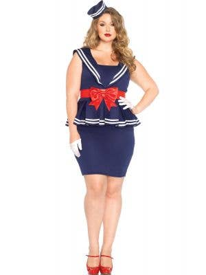 Plus Size 1940's Sailor Women's Costume Main